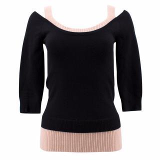 Michael Kors Black Wool Peekaboo Pullover