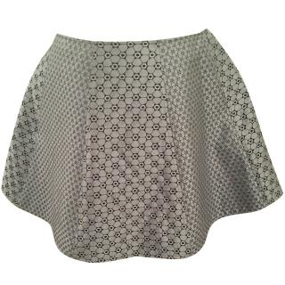 Opening Ceremony Silver Grey Mini Circle Skirt
