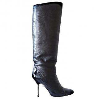 Lanvin runway black leather boots