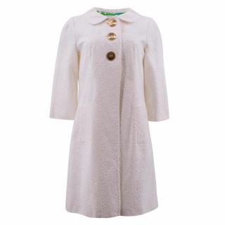 Milly White Cotton Coat