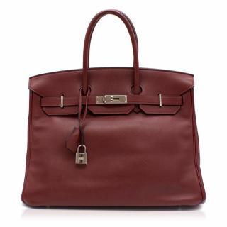 Hermes Rouge H Swift Leather 35CM Birkin Bag