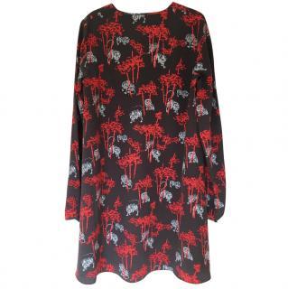 Kenzo Tiger Print Silk Dress