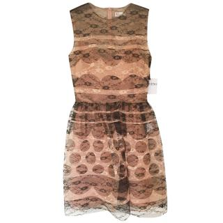 Red Valentino Pink Tulle Lace Dress