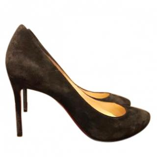 Christian Louboutin Brown Suede Simple Pump 36