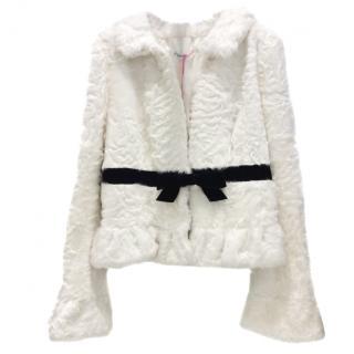 Ungaro Ivory Baby Skin Fur Jacket