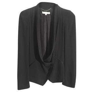 VANESSA BRUNO black silk lined tuxedo jacket