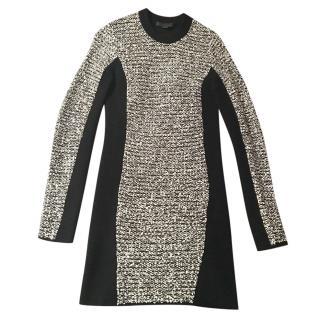 Alexander Wang short black and white dress