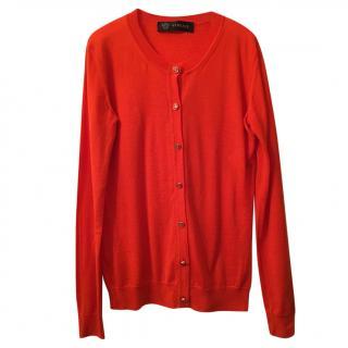 Versace Orange Wool Cardigan