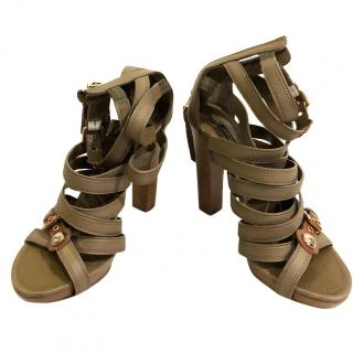 Louis Vuitton Beige multi strap heels