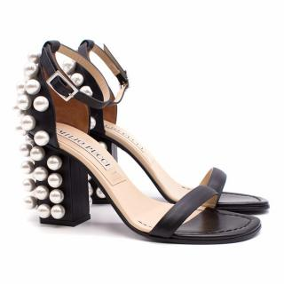 Emilio Pucci Embellished Suede Sandals