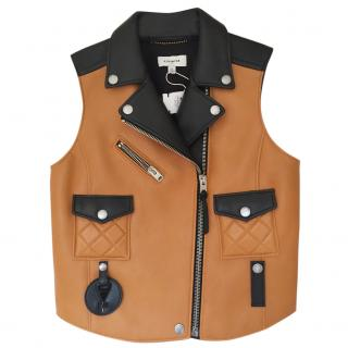Coach Leather Sleeveless Jacket/ Gilet