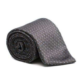 Lanvin Block Print Silk Tie