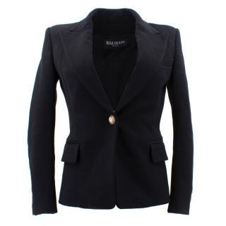 Balmain Black Single Breasted Blazer Jacket