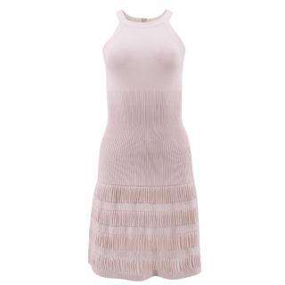 Alaia High Neck Blush Dress