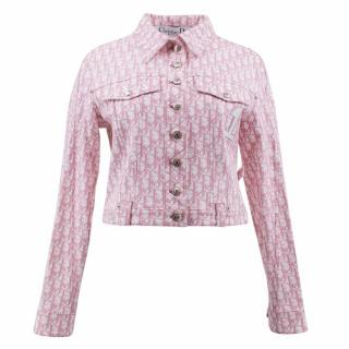 Christian Dior Embellished Pink Denim Jacket