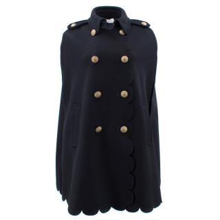 Red Valentino Scalloped Cape With Crest Buttons