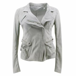 Donna Karan Suede Moto Jacket