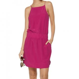 Vix Fuschia Silk Dress
