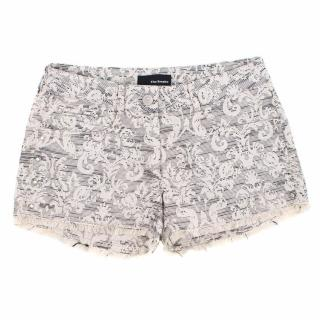 The Kooples Jacquard Shorts with Stud Trim