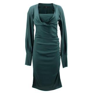 Gucci Emerald Draped Dress