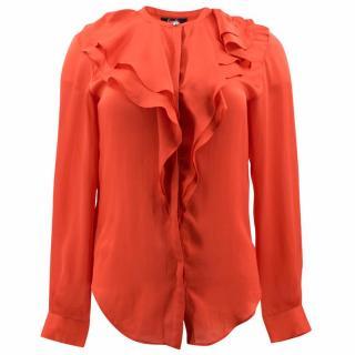 Freda Silk Ruffle Shirt