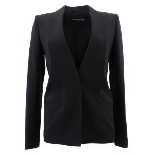 Victoria Beckham Black Crepe Blazer Jacket