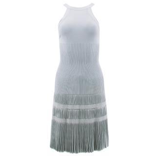 Alaia Pastel Jacquard Knit Flared Dress