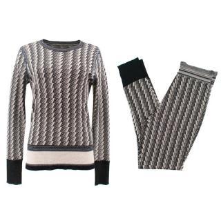 By Malene Birger Metallic Knit Set