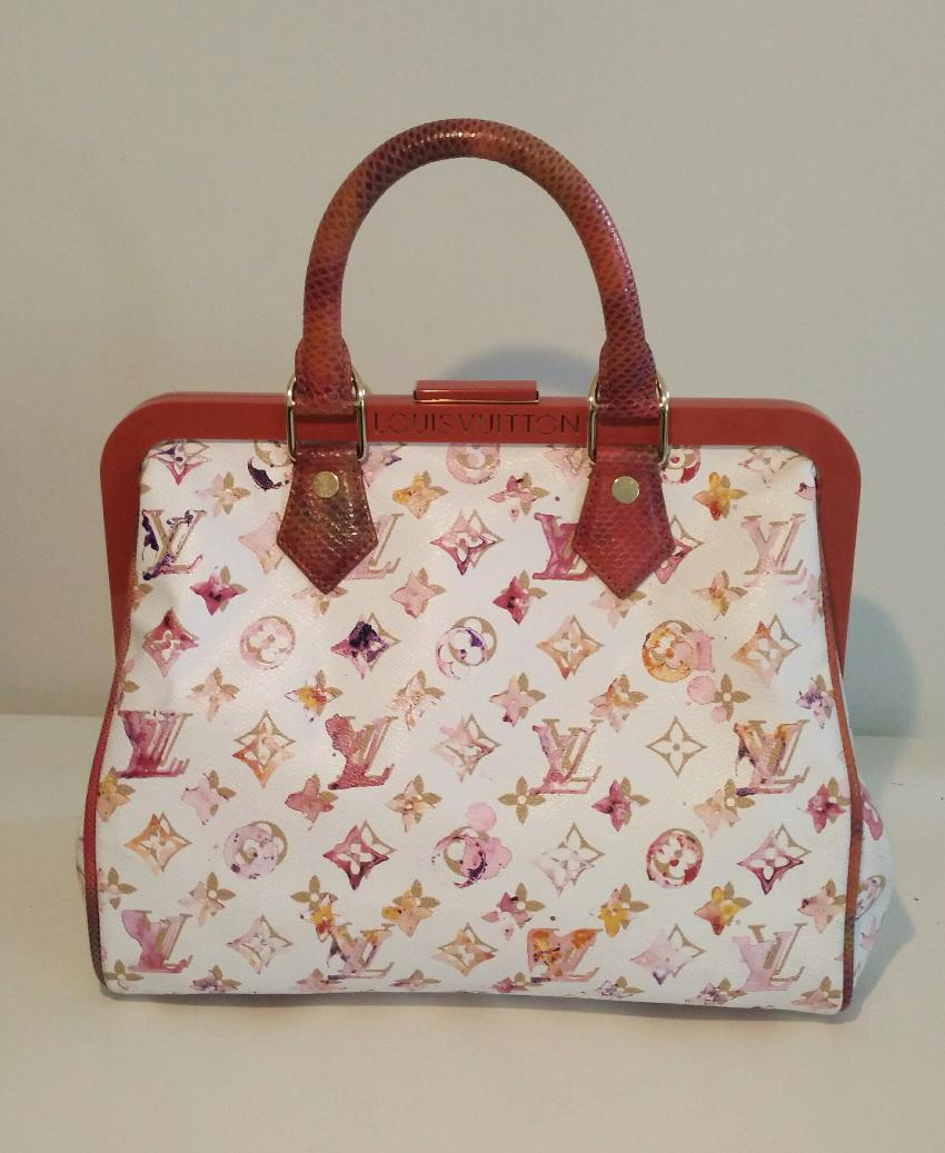 c7b2e24c15fc Louis Vuitton Limited Edition Aquarelle Watercolor Monogram Speedy 30. 25.  12345678