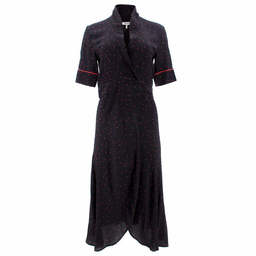 c5e4fe1b11d8 Ganni Harley Crepe Wrap Dress