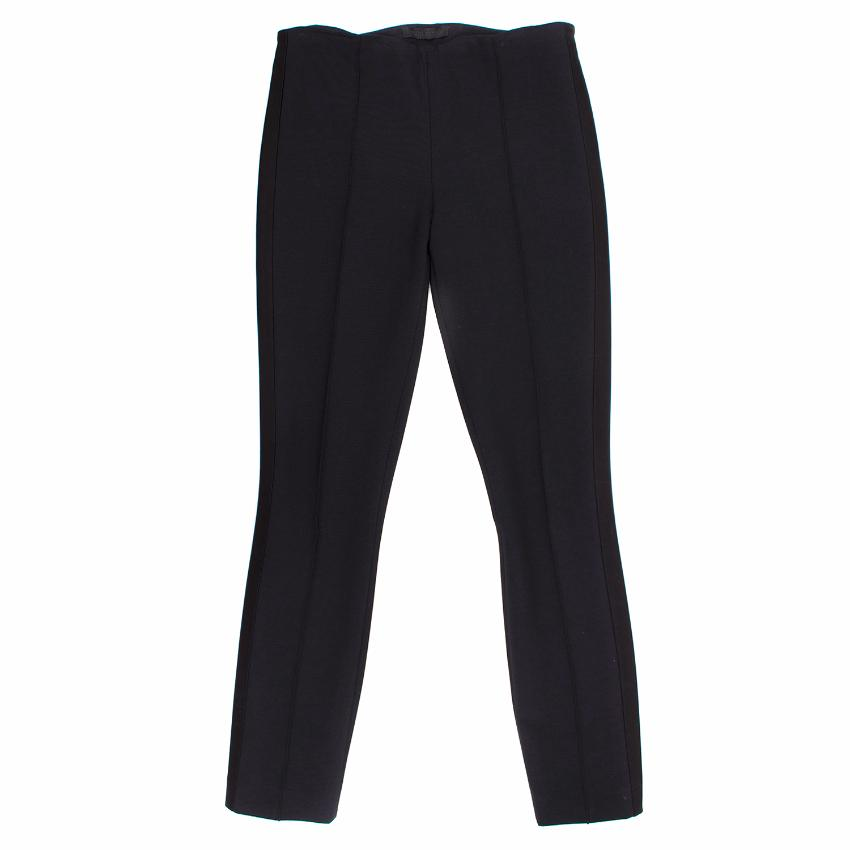 The Row Navy and Black Stripe Trousers