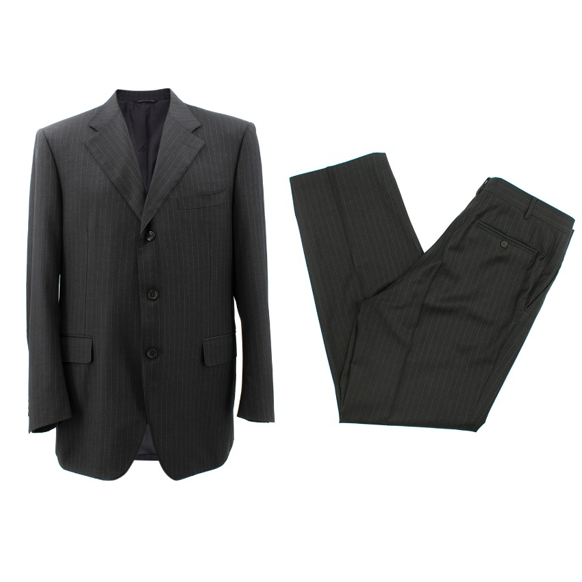 Canali Exclusive Grey Pin Stripes Suit