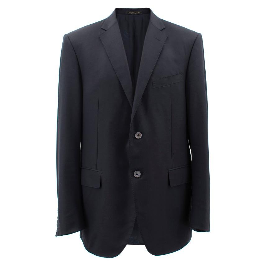 Corneliani Navy Wool Dinner Jacket