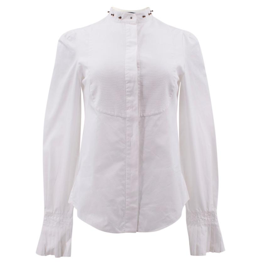Alexander Mcqueen Bib Front Shirt with Studded Collar