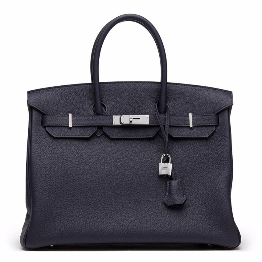 Hermes Blue Nuit Togo Leather Birkin 35cm  b741a3d6728c2