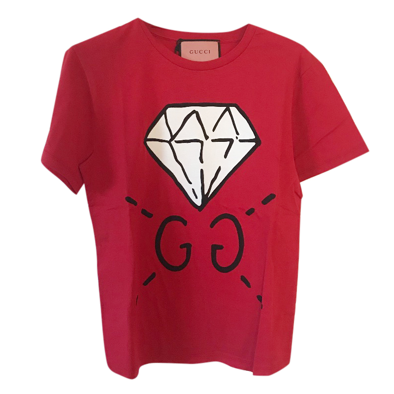 85c9318a922 Gucci Ghost Red Diamond Motif Tshirt