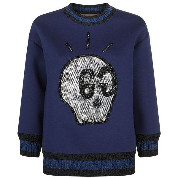 42c0737fe Gucci Ghost Blue Sweatshirt | HEWI London