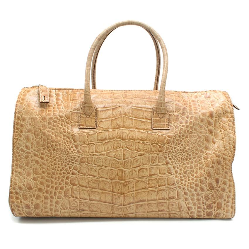 Gianfranco Ferre Crocodile Print 24h Bag