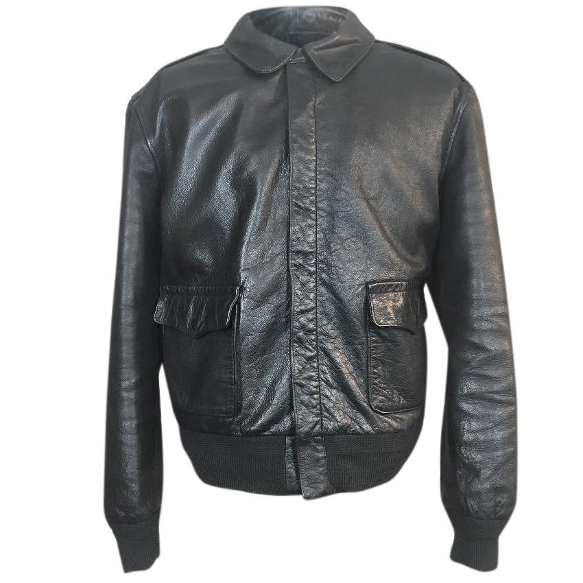 Treffen Größe 40 noch nicht vulgär Polo Ralph Lauren Leather A2 Flight Bomber Jacket