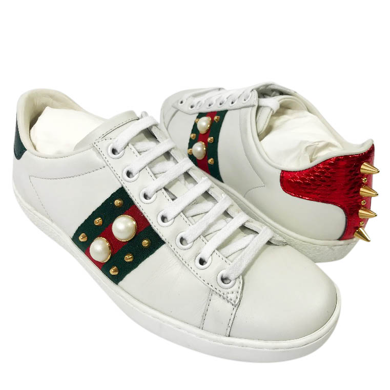 7156a62748a Gucci Pearl Spike Sneakers