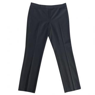 JOSEPH black lightweight wool straight leg trousers