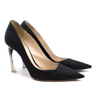 Christian Dior Asymmetric Cut Pointed-Toe Pumps
