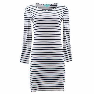 Melissa Odabash Black Jamie Striped Stretch Dress