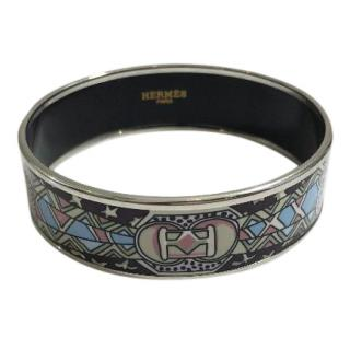 Hermes Pastel Print Enamel Bangle