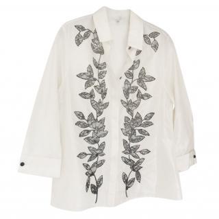 Carolina Herrera Silk embroidered Blouse
