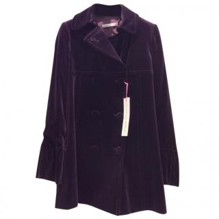 Ungaro Deep Purple Velvet Coat