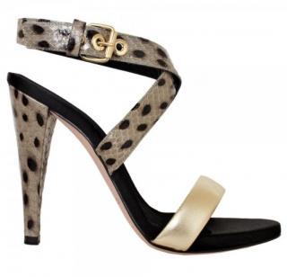 Giambattista Valli spot print heels