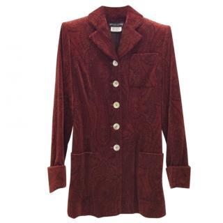 Jean-Louis Scherrer Paris Velvet Long Jacket