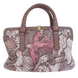 Bottega Veneta handprinted silk bag