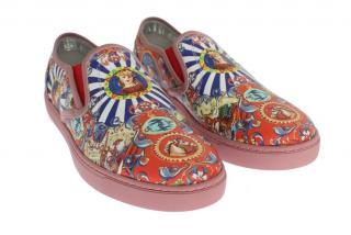 Dolce & Gabbana Multicoloured Carretto Print shoes